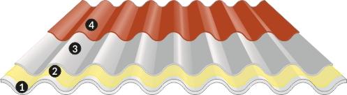 cubierta metálica o fibrocemento